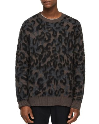 Apex Leopard Print Crewneck Sweater by Allsaints