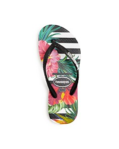 havaianas - Girls' Floral Stripe Slim Flip-Flops - Toddler, Little Kid