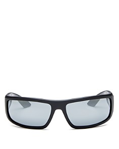 Prada - Men's Linea Rossa Mirrored Wrap Sunglasses, 65mm