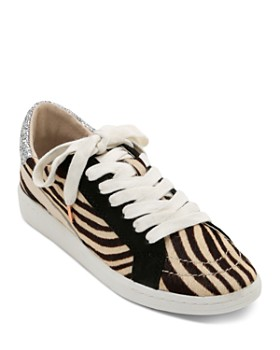 Dolce Vita - Women's Nino Animal Print Low Top Sneakers