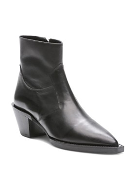 The Kooples - Women s Pointed Toe Leather Western Booties ... 2f0b4e09aca0
