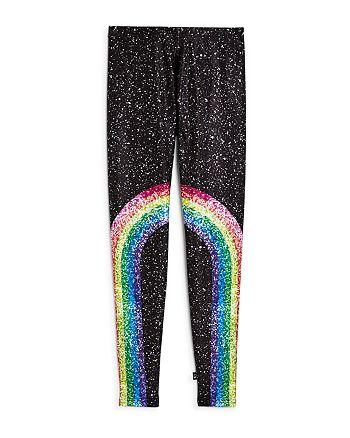 Terez - Girls' Rainbow Splatter Leggings - Little Kid