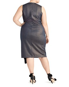 Rachel Roy Plus - Augustine Metallic Ruffle Dress