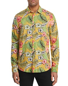 Scotch & Soda - Tropical Floral-Print Slim Fit Shirt