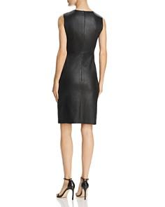 Theory - Leather Sheath Dress