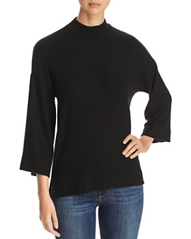 Three Dots - Mock-Neck High/Low Sweater