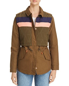 Scotch & Soda - Quilted-Overlay Army Jacket