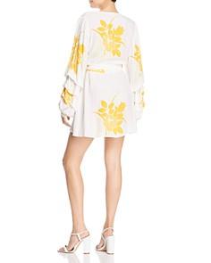 S/W/F - Dock Floral Mini Wrap Dress