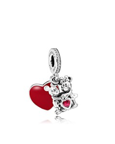 PANDORA - Sterling Silver & Cubic Zirconia Disney Minnie & Mickey With Love Charm