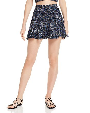 Sage the Label - Waiting for You Floral-Print Mini Skirt