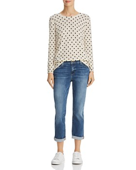 C by Bloomingdale's - Polka Dot Cashmere Sweater - 100% Exclusive