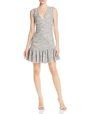 Rebecca Taylor  Ruffled-Hem Tweed Dress