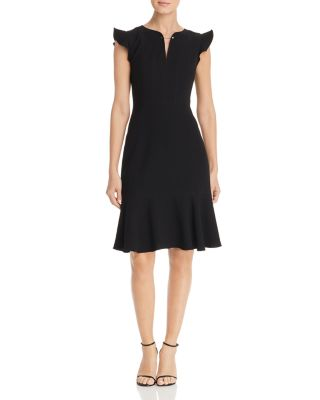 Lucy Flutter Sleeve Dress by Elie Tahari