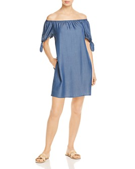 Tommy Bahama - Chambray Off-the-Shoulder Dress Swim Cover-Up