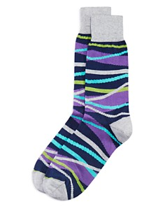 The Men's Store at Bloomingdale's - Modern Striped Socks - 100% Exclusive
