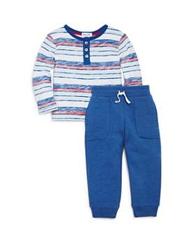 6d3a11112033 Splendid - Boys  Faded-Stripe Henley Top   Jogger Pants Set - Baby ...