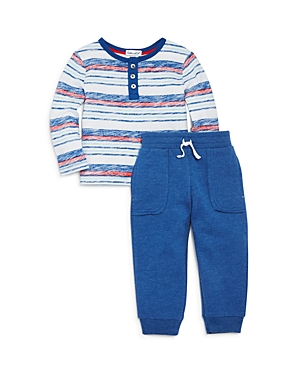 Splendid Boys FadedStripe Henley Top  Jogger Pants Set  Baby