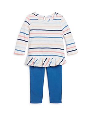 Splendid Girls Striped RuffleHem Top  Leggings Set Baby