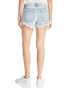 Pistola - Gigi Mid Rise Denim Mini Shorts in Medium Blue