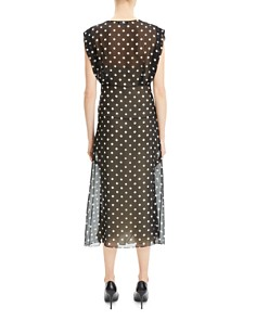Theory - Polka-Dot Silk Dress