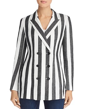 Escada Sport - Bimany Striped Double-Breasted Blazer