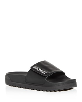 3cefd644d Versus Versace - Men's Leather Slide Sandals ...