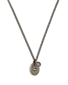 MIANSAI - Dove Oxidized Sterling Silver Pendant Necklace, 12""