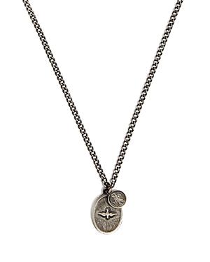 Dove Oxidized Sterling Silver Pendant Necklace