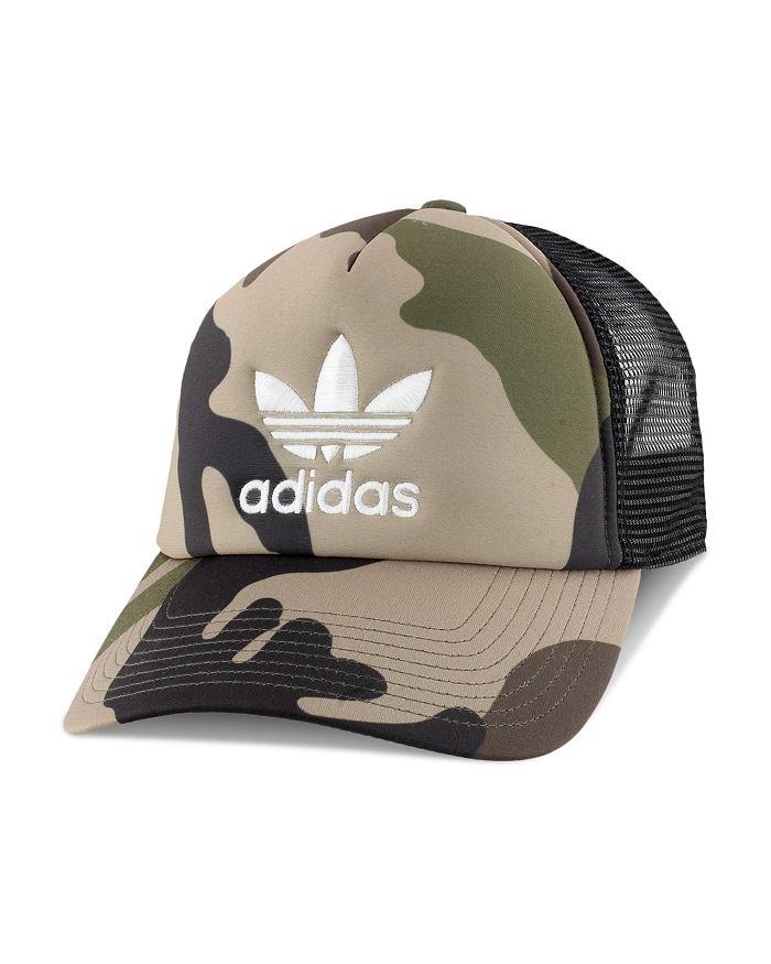 Adidas Originals Camouflage-Print Trucker Hat In Green