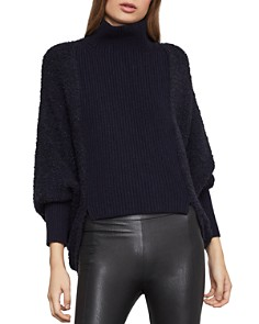 BCBGMAXAZRIA - High-Low Turtleneck Sweater