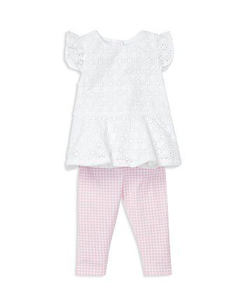 Ralph Lauren - Girls' Eyelet Top & Gingham Leggings - Baby