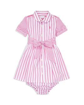 Ralph Lauren - Girls' Striped Dress & Bloomers Set - Baby