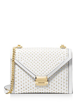 d5c93a88bf3 MICHAEL Michael Kors - Large Whitney Studded Leather Shoulder Bag ...