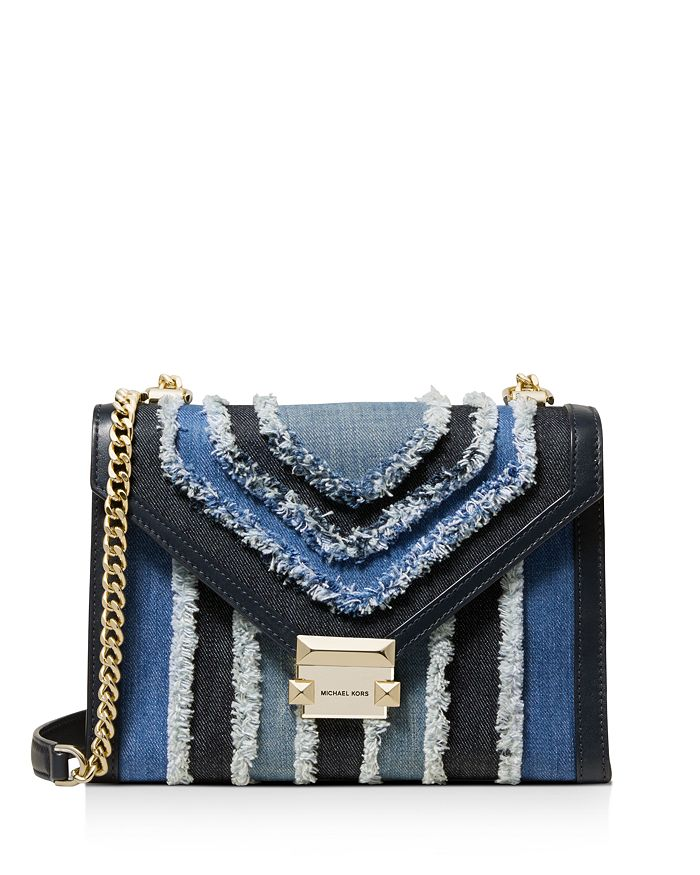 ce56852227d2 MICHAEL Michael Kors Large Whitney Denim & Leather Shoulder Bag ...