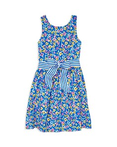 Ralph Lauren - Girls' Floral Print Fit-and-Flare Dress - Little Kid