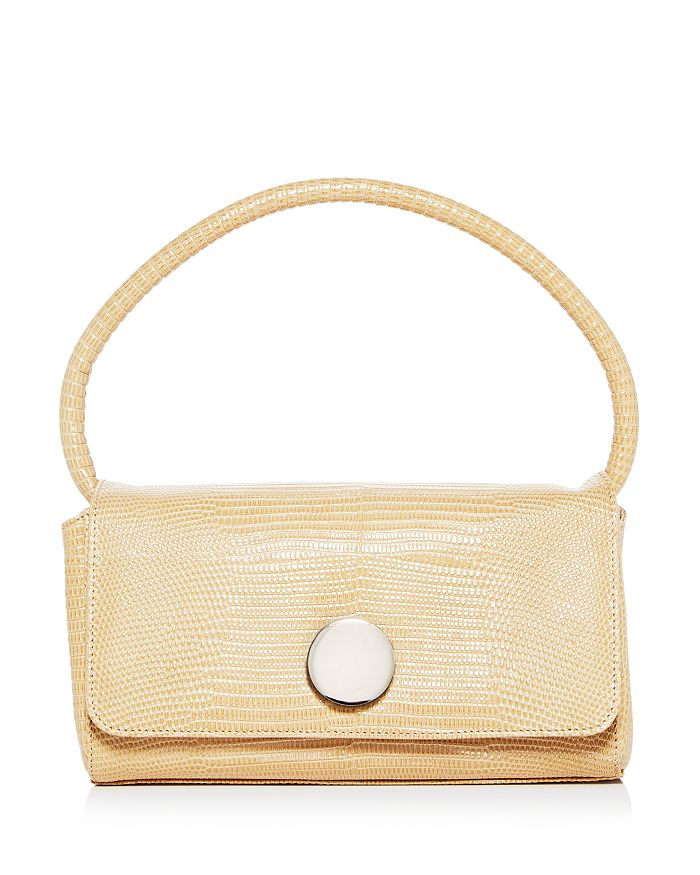 Little Liffner - Baguette Mini Lizard-Embossed Leather Shoulder Bag