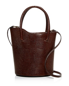 Little Liffner - Tulip Lizard-Embossed Leather Mini Bucket Bag