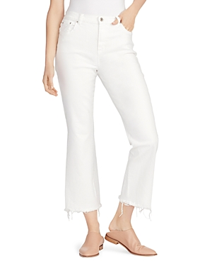 Ella Moss HIGH RISE CROPPED FLARED JEANS IN WHITE
