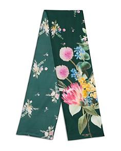 Ted Baker - Vivana Flourish Floral Silk Skinny Scarf
