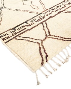 """Solo Rugs - Fes Moroccan Runner Rug, 3'4"""" x 8'0"""""""