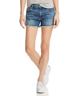 7 For All Mankind - High Rise Vintage Cutoff Jeans in Primm Valley