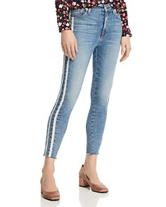 7 For All Mankind - Side-Stripe Ankle Skinny Jeans in Sloan Vintage