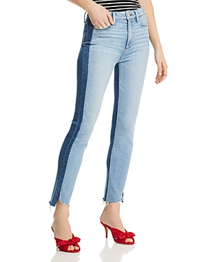 Paige Jeans TWO-TONE HOXTON SLIM JEANS IN LIZZIE