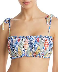Polo Ralph Lauren - Patchwork Smocked Bandeau Bra Bikini Top & Patchwork Smocked Hipster Bikini Bottom