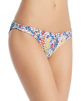 Ralph Lauren - Patchwork Smocked Hipster Bikini Bottom