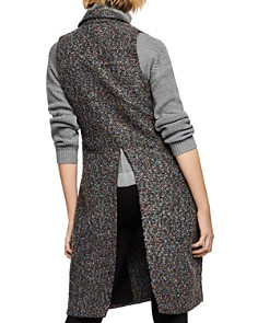 BCBGENERATION - Double-Breasted Long Tweed Vest