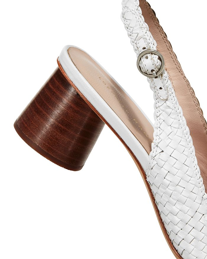 64813170e94 Loeffler Randall Women s Martine Woven Leather Slingback Pumps ...
