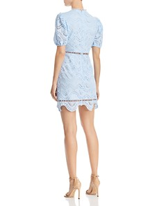 AQUA - Puff-Sleeve Eyelet Dress - 100% Exclusive