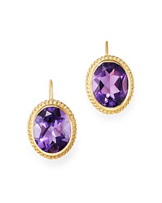 Bloomingdale's - Amethyst Bezel-Set Earrings in 14K Yellow Gold - 100% Exclusive