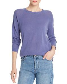 Minnie Rose - Distressed Cashmere Crewneck Sweater